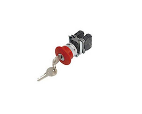 LA167-B4-BS14 锁扣式Φ40mm蘑菇头红色钥匙复位