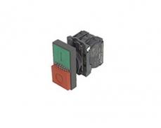浙江LA167-B5-AW 双键方头带灯按钮开关 直接式