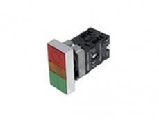 LA167-B2-BW 雙鍵方頭帶燈按鈕形狀(直接式)