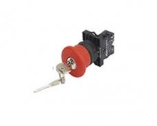 LA167-B2-ES14 鎖扣式 Φ40mm 蘑菇頭紅鑰匙位(Ronis n° 455)