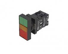 LA167-B2-EW8 雙鍵方頭帶燈 按鈕直接式